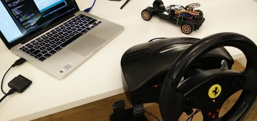 cocherc arduino - Conduce un coche de radio control con mando de volante USB con Arduino