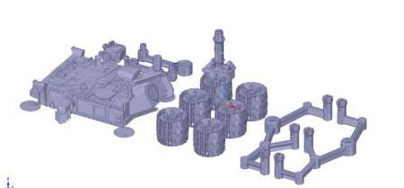curiosity3d-450x209 Ya puedes imprimir en 3D una maqueta del Curiosity Mars Rover de la NASA