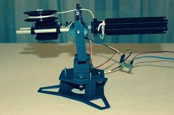 torreta arduino2 450x298 - Construye una torreta móvil lanzadora de proyectiles con Arduino
