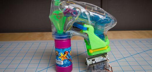 arduino bubble gun - Arduino para controlar una pistola de pompas de jabón.