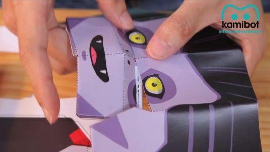 kamibot2 - Kamibot, un robot de cartulina compatible con Arduino
