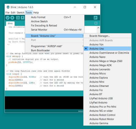 selecciona-arduino-477x450 Arduino, una guía básica para principiantes