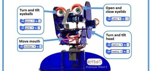 ohbot - Ohbot2, una cabeza de robot programable compatible con Arduino