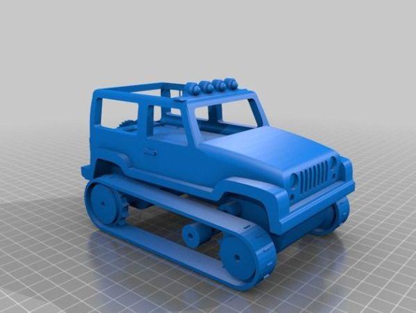 jeep-arduino3-599x450 Arduino controla este jeep de control remoto impreso en 3D