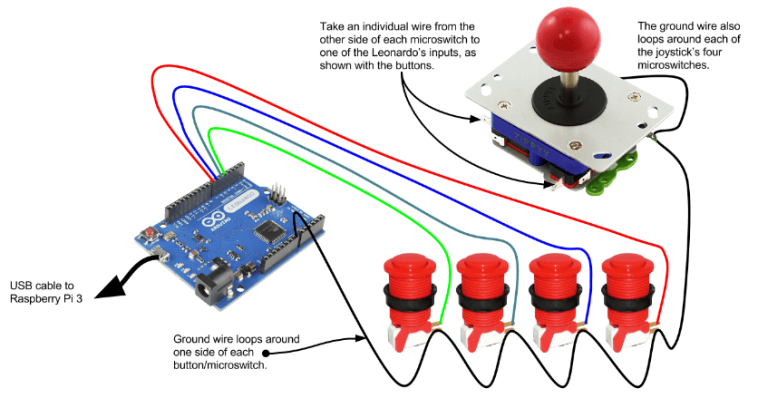 Leonardo+Controller+Wiring
