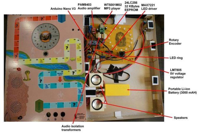 arduino-juego-677x450 El Secreto de la Pirámide, un juego de mesa realizado con Arduino
