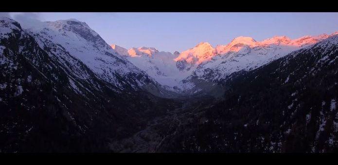 glaciardrone - Increíbles imágenes a vista de dron del glaciar Morteratsch en Suiza