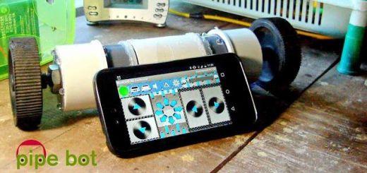 pipebot1 - Pipe Bot, un divertido robot controlado con tu smartphone y Arduino