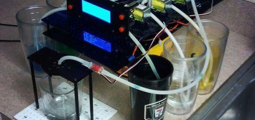 6 shooter - Construye un mezclador de bebidas DIY con Arduino Uno