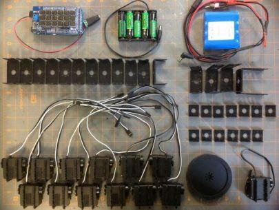 robot serpìente2 597x450 - Construye un robot serpiente muy bailón con Arduino
