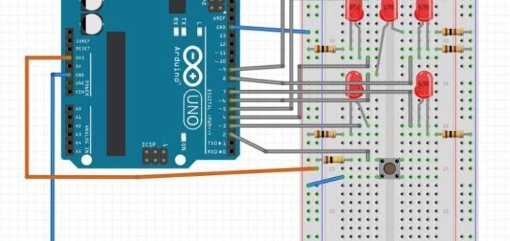 dado arduino1 - Tutorial para aprender a construir un sencillo lanzador de dados