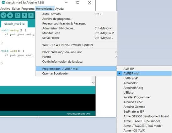 programador AVR ISP mk2