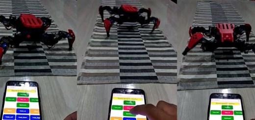 robot cuadrupedo wireless