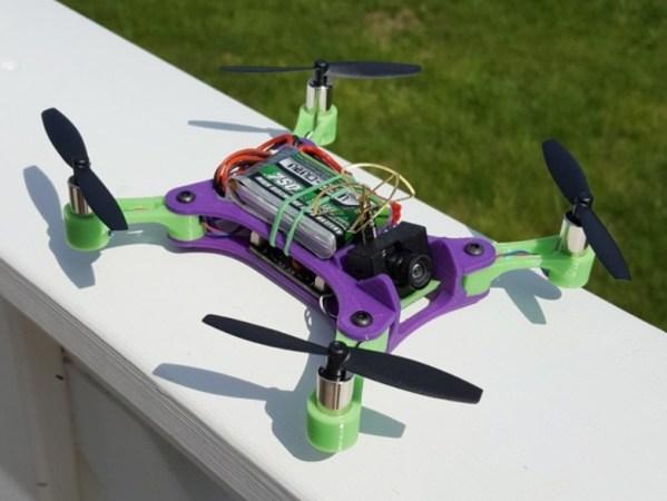 Foldable Brushed Microquad 599x450 - Drones impresos en 3D, Guía de Todo lo que necesitas saber