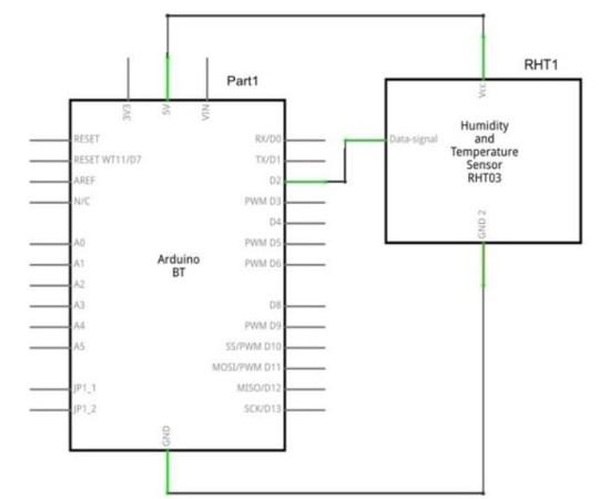 DHT-22 Sensor diagrama