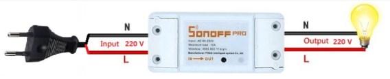 sonoff sencillo interruptor a distancia