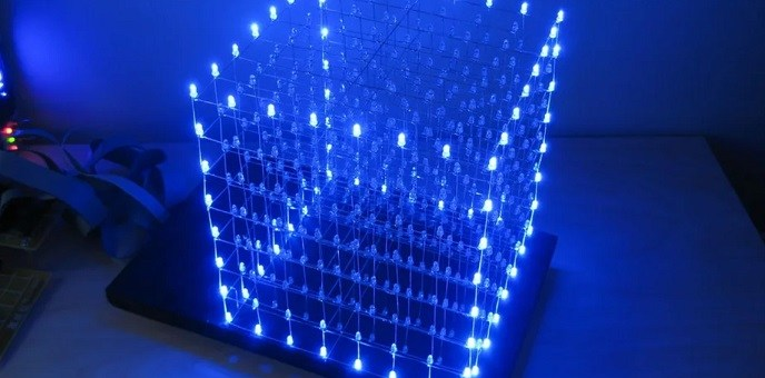 como hacer un cubo led 8x8x8 con arduino uno