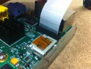 donde conectar cámara Raspberry pi
