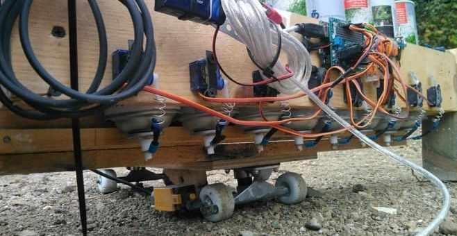 robot que pinta calles