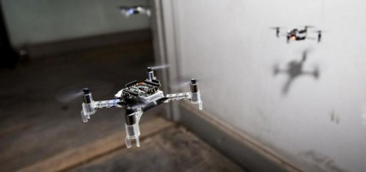 drones trabajan en zona de urgencias