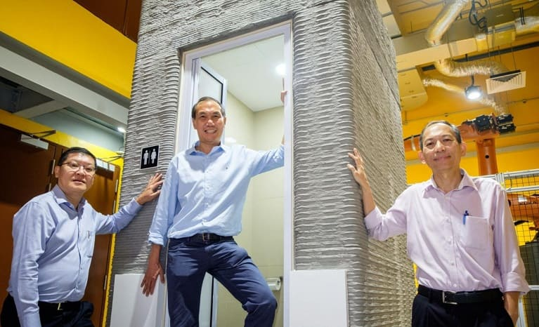 imprimen en 3D un baño en un día construccion - Imprimen en 3D un cuarto de baño en un solo día