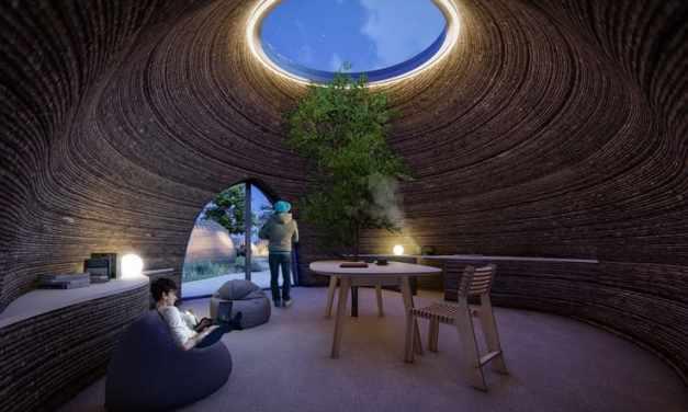 Vivienda de arcilla impresa en 3D en construcción en Italia