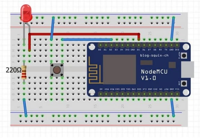 nodeMCU protoboard - Cómo controlar Dispositivos utilizando un navegador web (NodeMCU)