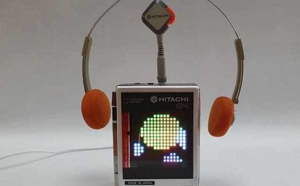 Walkman de casetes retro y Estación meteorológica Raspberry Pi