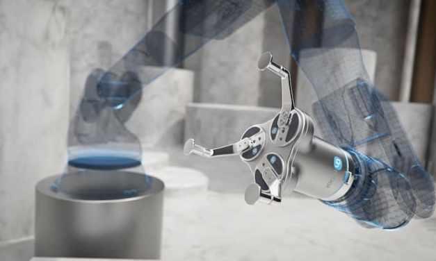 La pinza de 3 dedos de OnRobot, diseñada para el control de máquinas pesadas