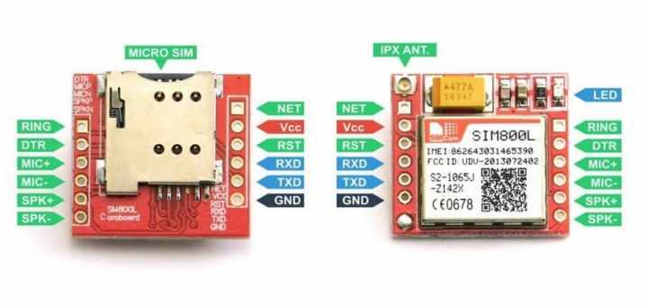 SIM800L GSM Pinout