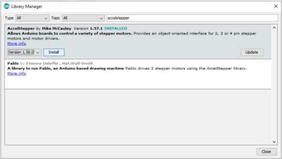 instalar libreria arduino IDE - Cómo controlar un motor de pasos con el conductor DRV8825 y Arduino
