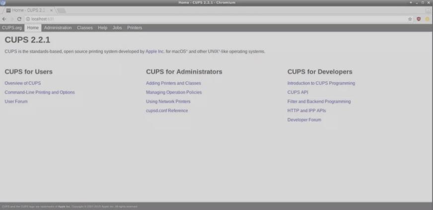 CUPS raspberry Pi - Las mejores aplicaciones de Raspbian para usar un Raspberry Pi como un PC de escritorio
