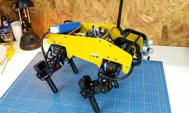 Impresionante Robot Cuadrúpedo mechDOG de 12-servo