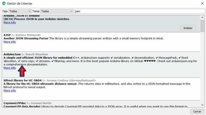 arduino JSON library - Cómo construir una Estación meteorológica con ESP8266 usando el IDE de Arduino