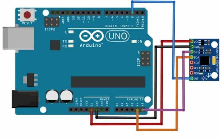 como conectar mpu6050 con arduino - MPU6050, Diagrama de pines, circuito y conexión con Arduino