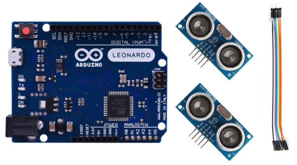 materiales - Controla tu PC con el sensor ultrasónico HC-SR04 y Arduino