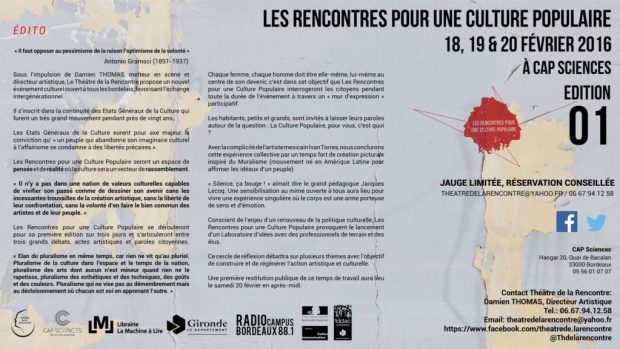 Descubre Tres días de Cultura Popular en Bordeaux
