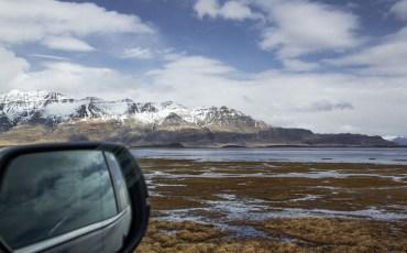 Zona indundada en los fiordos de islandia
