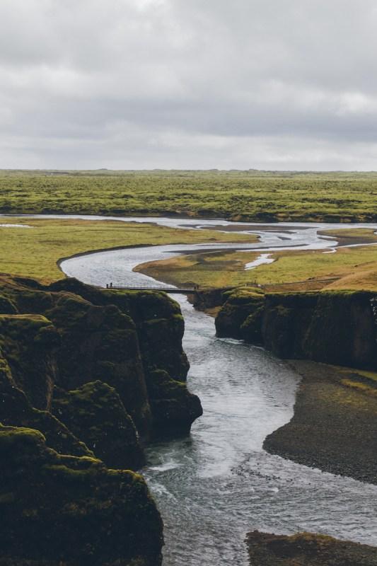 Desembocadura del Cañón Frádrargljúfur en el sur de Islandia