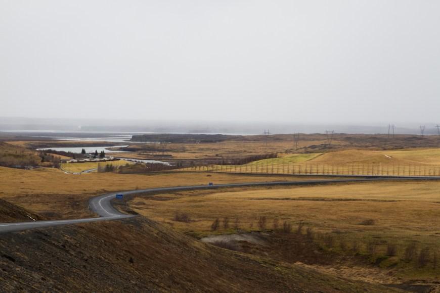Paisaje anaranjado en el sur de Islandia