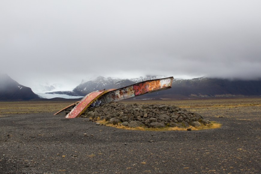 Puente destruído en el sur de Islandia