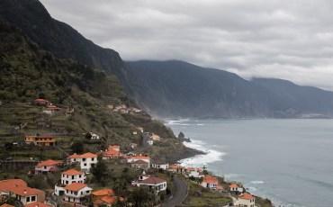 Vistas des del mirador Arco Sao Jorge en Madeira.
