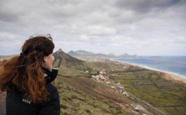 Anna en el Mirador de las Flores en Porto Santo, Madeira