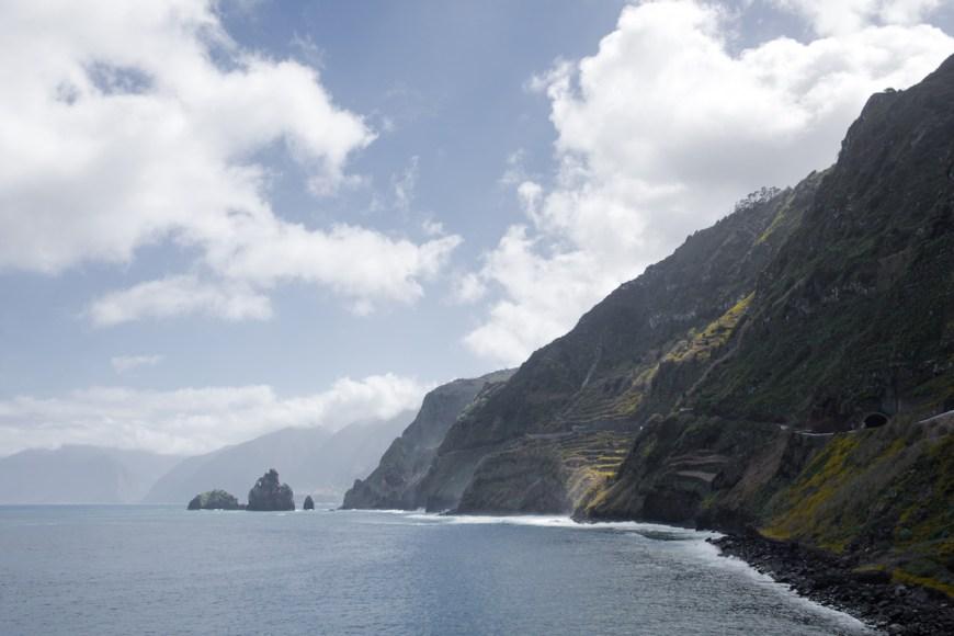 Acantilados en el norte de Madeira