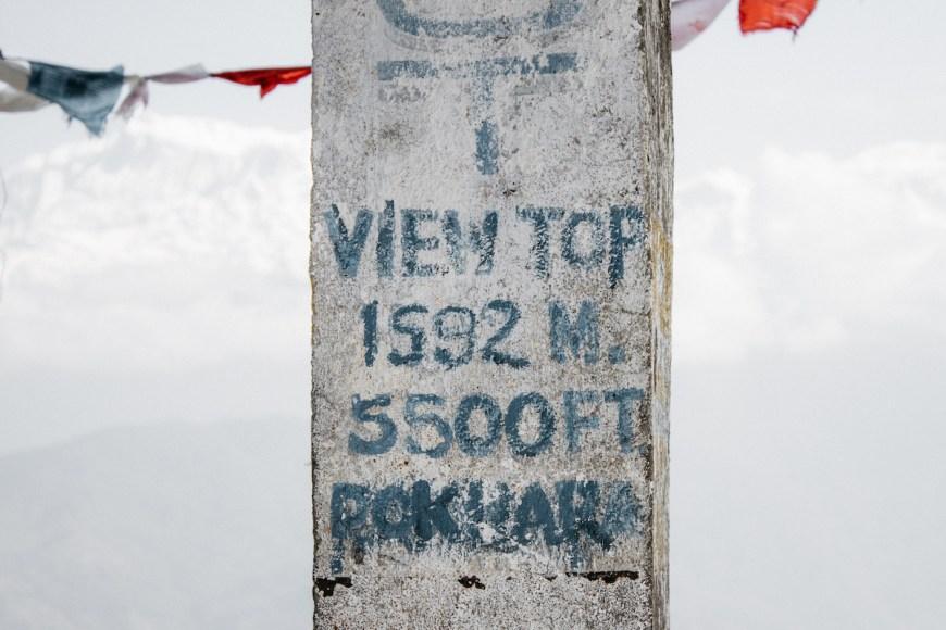 Mirador del Sarangkot en Nepal