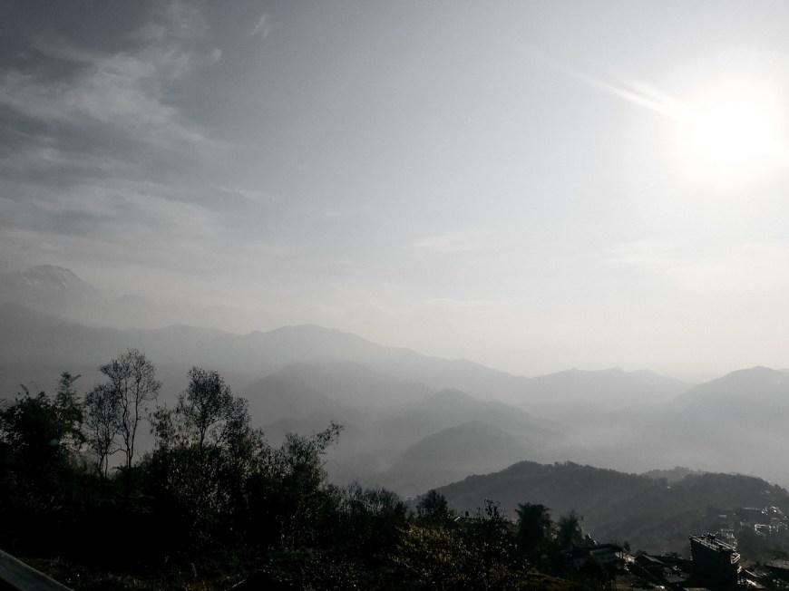 Vistas des del Sarangkot en Nepal.