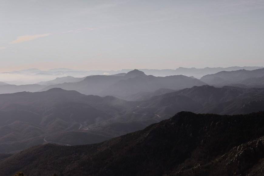 Vistas des de la cima de Roc de Fraussa, Alt empordà