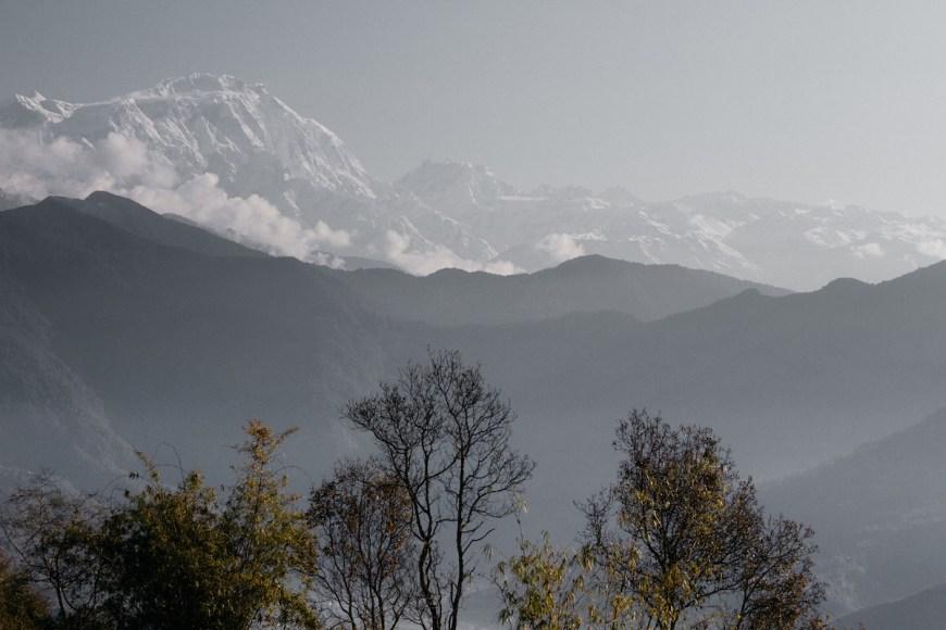 Annapurnas vistas des del Sarangkot, Nepal