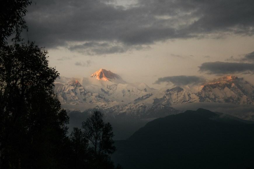 Atardecer en los Annapurnas.