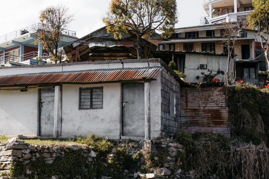 Viviendas en el Sarangkot, Nepal